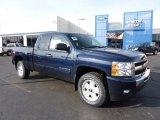 2011 Imperial Blue Metallic Chevrolet Silverado 1500 LT Extended Cab 4x4 #46183390