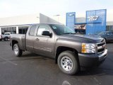 2011 Taupe Gray Metallic Chevrolet Silverado 1500 LS Extended Cab 4x4 #46183393