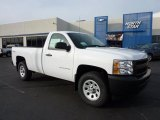 2011 Summit White Chevrolet Silverado 1500 Regular Cab 4x4 #46183405