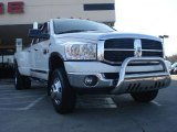 2007 Bright White Dodge Ram 3500 SLT Quad Cab 4x4 Dually #46183780