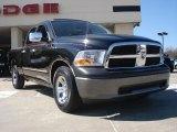 2009 Brilliant Black Crystal Pearl Dodge Ram 1500 ST Quad Cab #46183783