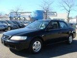 2002 Nighthawk Black Pearl Honda Accord EX V6 Sedan #46184088