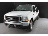 2004 Oxford White Ford F250 Super Duty Lariat Crew Cab 4x4 #46243276