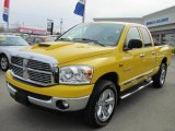 2008 Detonator Yellow Dodge Ram 1500 Big Horn Edition Quad Cab 4x4 #46244703
