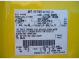 2005 F150 Color Code for Yellow - Color Code: W6695