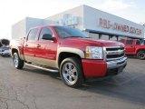 2009 Victory Red Chevrolet Silverado 1500 LS Crew Cab #46244491