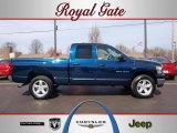 2007 Patriot Blue Pearl Dodge Ram 1500 Big Horn Edition Quad Cab 4x4 #46243730