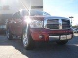 2007 Inferno Red Crystal Pearl Dodge Ram 1500 Laramie Quad Cab 4x4 #46244516