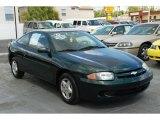 2003 Dark Green Metallic Chevrolet Cavalier Coupe #46337376