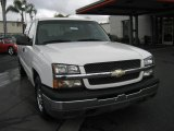 2004 Summit White Chevrolet Silverado 1500 LS Extended Cab #4624172