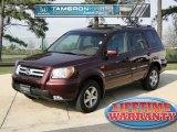 2007 Dark Cherry Pearl Honda Pilot EX-L 4WD #46345205