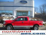 2011 Race Red Ford F150 XLT SuperCab 4x4 #46344573