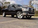 2007 Black Dodge Ram 1500 SLT Quad Cab #4619455