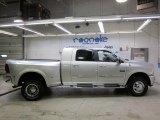 2010 Bright Silver Metallic Dodge Ram 3500 Laramie Mega Cab 4x4 Dually #46344718