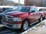2010 Inferno Red Crystal Pearl Dodge Ram 1500 Big Horn Quad Cab 4x4 #46345257
