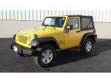 2011 Detonator Yellow Jeep Wrangler Sport S 4x4 #46345377