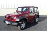 2011 Deep Cherry Red Crystal Pearl Jeep Wrangler Sport 4x4 #46345381