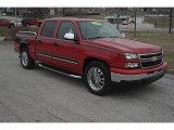 2007 Victory Red Chevrolet Silverado 1500 Classic LS Crew Cab #46345142