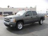 2011 Steel Green Metallic Chevrolet Silverado 1500 LT Crew Cab 4x4 #46344970