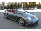 2008 Slate Grey Metallic Porsche 911 Turbo Cabriolet #4611865
