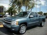 2011 Blue Granite Metallic Chevrolet Silverado 1500 LT Extended Cab #46397176