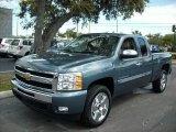 2011 Blue Granite Metallic Chevrolet Silverado 1500 LT Extended Cab #46397179