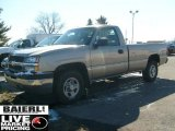 2003 Light Pewter Metallic Chevrolet Silverado 1500 Regular Cab 4x4 #46397044