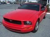 2005 Torch Red Ford Mustang V6 Premium Convertible #46397563