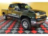 2003 Dark Green Metallic Chevrolet Silverado 2500HD LS Extended Cab 4x4 #46397568
