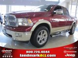 2011 Deep Cherry Red Crystal Pearl Dodge Ram 1500 Laramie Crew Cab #46397251