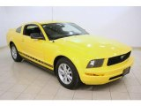 2005 Screaming Yellow Ford Mustang V6 Deluxe Coupe #46397702
