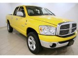 2008 Detonator Yellow Dodge Ram 1500 SLT Quad Cab 4x4 #46397703