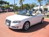 2008 Ibis White Audi A4 2.0T Cabriolet #46455619