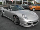 2008 Arctic Silver Metallic Porsche 911 Turbo Cabriolet #46456208