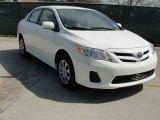 2011 Super White Toyota Corolla LE #46500150