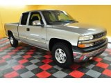 2000 Light Pewter Metallic Chevrolet Silverado 1500 Z71 Extended Cab 4x4 #46500413