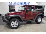 2011 Deep Cherry Red Crystal Pearl Jeep Wrangler Sport S 4x4 #46500134