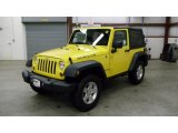 2011 Detonator Yellow Jeep Wrangler Rubicon 4x4 #46500699