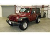 2011 Deep Cherry Red Crystal Pearl Jeep Wrangler Rubicon 4x4 #46500700