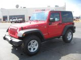 2011 Flame Red Jeep Wrangler Rubicon 4x4 #46500294