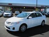 2011 Super White Toyota Corolla LE #46545976