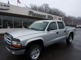 2003 Bright Silver Metallic Dodge Dakota Sport Quad Cab 4x4 #46546005