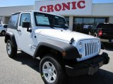 2011 Bright White Jeep Wrangler Sport 4x4 #46545739