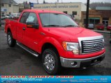 2011 Race Red Ford F150 XLT SuperCab 4x4 #46545658