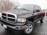 2005 Black Dodge Ram 1500 SLT Quad Cab 4x4 #46546316
