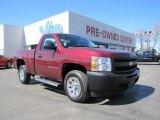 2009 Deep Ruby Red Metallic Chevrolet Silverado 1500 Regular Cab #46546116
