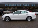 2011 White Platinum Tri-Coat Ford Fusion SEL V6 AWD #46545918