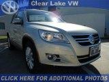 2011 White Gold Metallic Volkswagen Tiguan SE #46546436