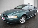 2000 Amazon Green Metallic Ford Mustang V6 Coupe #46611952