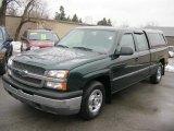 2004 Dark Green Metallic Chevrolet Silverado 1500 LS Extended Cab #46612292
